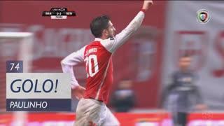 GOLO! SC Braga, Paulinho aos 74', SC Braga 1-2 SL Benfica