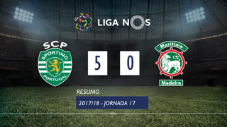 Liga NOS (17ªJ): Resumo Sporting CP 5-0 Marítimo M.