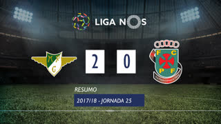 Liga NOS (25ªJ): Resumo Moreirense FC 2-0 FC P.Ferreira