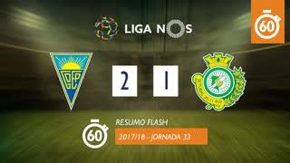 Liga NOS (33ªJ): Resumo Flash Estoril Praia 2-1 Vitória FC