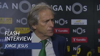 Liga (32ª): Flash interview Jorge Jesus