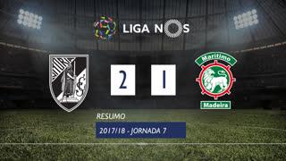 Liga NOS (7ªJ): Resumo Vitória SC 2-1 Marítimo M.