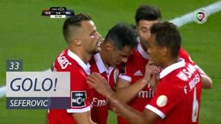 GOLO! SL Benfica, H. Seferovic aos 33', SL Benfica 3-0 Belenenses SAD
