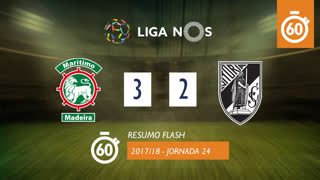 Liga NOS (24ªJ): Resumo Flash Marítimo M. 3-2 Vitória SC
