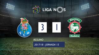 Liga NOS (15ªJ): Resumo FC Porto 3-1 Marítimo M.