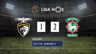 Liga NOS (4ªJ): Resumo Portimonense 1-2 Marítimo M.