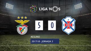 Liga NOS (3ªJ): Resumo SL Benfica 5-0 Belenenses