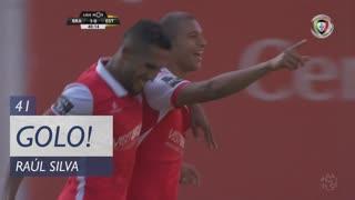GOLO! SC Braga, Raúl Silva aos 41', SC Braga 2-0 Estoril Praia