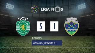Liga NOS (9ªJ): Resumo Sporting CP 5-1 GD Chaves