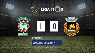 Liga NOS (5ªJ): Resumo Marítimo M. 1-0 Rio Ave FC