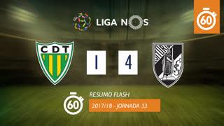 Liga NOS (33ªJ): Resumo Flash CD Tondela 1-4 Vitória SC