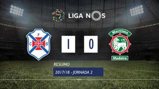Liga NOS (2ªJ): Resumo Os Belenenses 1-0 Marítimo M.