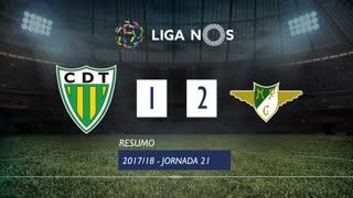 Liga NOS (21ªJ): Resumo CD Tondela 1-2 Moreirense FC
