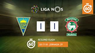 Liga NOS (29ªJ): Resumo Flash Estoril Praia 1-1 Marítimo M.