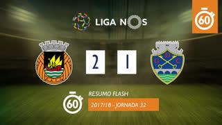 Liga NOS (32ªJ): Resumo Flash Rio Ave FC 2-1 GD Chaves