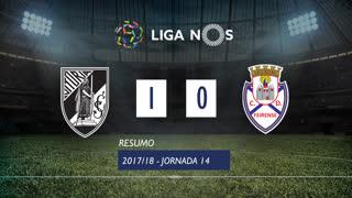 Liga NOS (14ªJ): Resumo Vitória SC 1-0 CD Feirense
