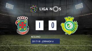 Liga NOS (6ªJ): Resumo FC P.Ferreira 1-0 Vitória FC