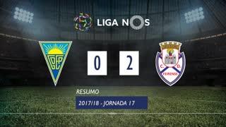Liga NOS (17ªJ): Resumo Estoril Praia 0-2 CD Feirense