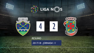 Liga NOS (11ªJ): Resumo GD Chaves 4-2 FC P.Ferreira
