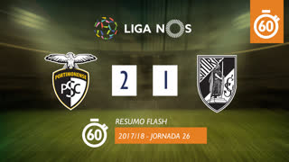 Liga NOS (26ªJ): Resumo Flash Portimonense 2-1 Vitória SC