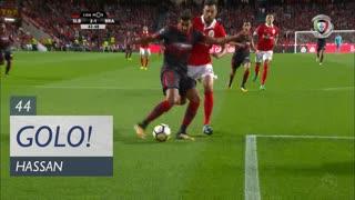 GOLO! SC Braga, Hassan aos 44', SL Benfica 2-1 SC Braga