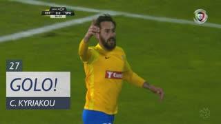 GOLO! Estoril Praia, C. Kyriakou aos 27', Estoril Praia 1-0 Sporting CP