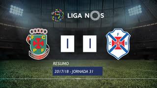 Liga NOS (31ªJ): Resumo FC P.Ferreira 1-1 Os Belenenses