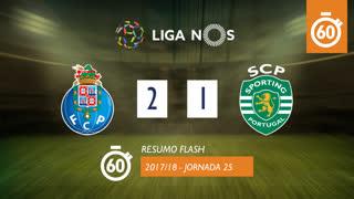 Liga NOS (25ªJ): Resumo Flash FC Porto 2-1 Sporting CP