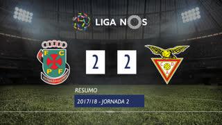 Liga NOS (2ªJ): Resumo FC P.Ferreira 2-2 CD Aves