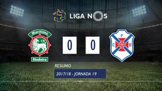Liga NOS (19ªJ): Resumo Marítimo M. 0-0 Os Belenenses