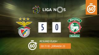 Liga NOS (25ªJ): Resumo Flash SL Benfica 5-0 Marítimo M.