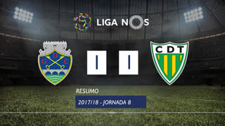 I Liga (8ªJ): Resumo GD Chaves 1-1 CD Tondela