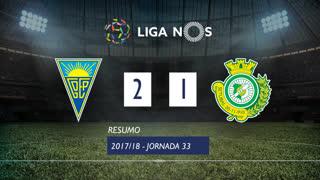 Liga NOS (33ªJ): Resumo Estoril Praia 2-1 Vitória FC