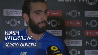 Liga (21ª): Flash interview Sérgio Oliveira
