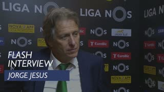 Liga (25ª): Flash interview Jorge Jesus
