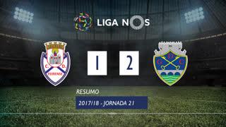 Liga NOS (21ªJ): Resumo CD Feirense 1-2 GD Chaves