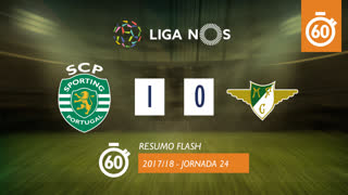 Liga NOS (24ªJ): Resumo Flash Sporting CP 1-0 Moreirense FC