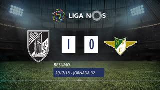 Liga NOS (32ªJ): Resumo Vitória SC 1-0 Moreirense FC