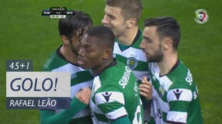 GOLO! Sporting CP, Rafael Leão aos 45'+1', FC Porto 1-1 Sporting CP