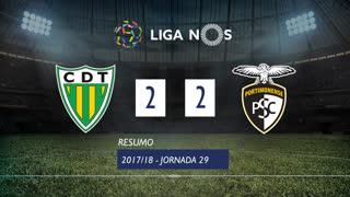 Liga NOS (29ªJ): Resumo CD Tondela 2-2 Portimonense