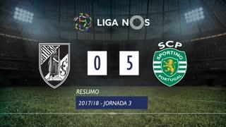 Liga NOS (3ªJ): Resumo Vitória SC 0-5 Sporting CP