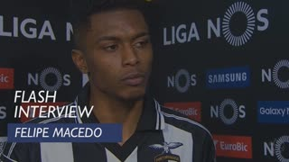 Liga (22ª): Flash interview Felipe Macedo