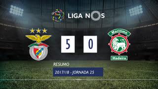 Liga NOS (25ªJ): Resumo SL Benfica 5-0 Marítimo M.