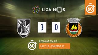 Liga NOS (29ªJ): Resumo Flash Vitória SC 3-0 Rio Ave FC