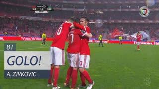 GOLO! SL Benfica, A. Zivkovic aos 81', SL Benfica 5-0 Marítimo M.