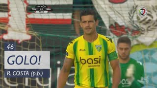 GOLO! SC Braga, Ricardo Costa (p.b.) aos 46', CD Tondela 1-2 SC Braga