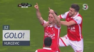 GOLO! SC Braga, Vukcevic aos 52', SC Braga 1-0 Marítimo M.