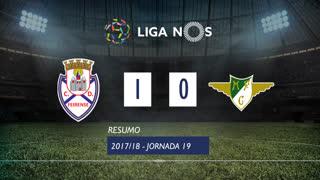 Liga NOS (19ªJ): Resumo CD Feirense 1-0 Moreirense FC