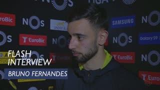 Liga (33ª): Flash interview Bruno Fernandes