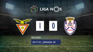 Liga NOS (30ªJ): Resumo CD Aves 1-0 CD Feirense